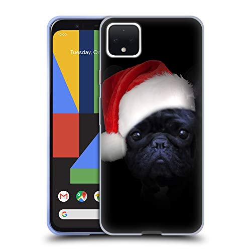 Head Case Designs Officially Licensed Klaudia Senator Christmas Hat French Bulldog 2 Soft Gel Case Compatible with Google Pixel 4 XL
