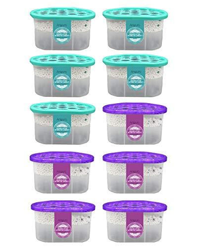 Deumidificatore a base di cristalli idrofili 10 Pack da 500ml Ariapura, dispositivo di rimozione condensa, assorbiumidità, muffa, per cucina, guardaroba, scarpiere, bagno