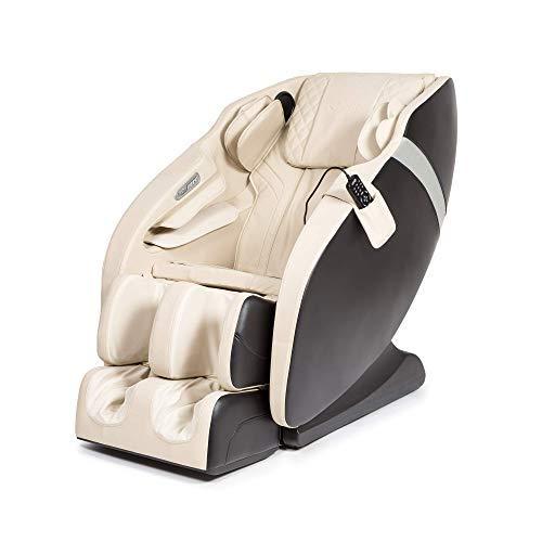 """Karma® Sillón de Masaje 2D - Beige (Modelo 2021) - 6 programas de Masaje Profesional, Presoterapia, Termoterapia, Reflexoterapia pies, Gravedad """"Cero"""", Espacio """"Cero"""", Sonido Envolvente 3D, Bluetooth"""