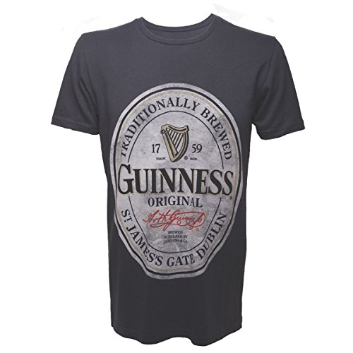 Guinness - M - Gris - Men's T-Shirt