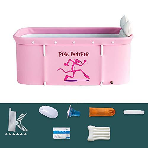 Bañera plegable para adultos, 120 cm, portátil, no inflable - Bañera plegable de plástico grueso que se sostiene de pie para el hogar, bañera para adultos, para sauna de vapor, bañera portátil