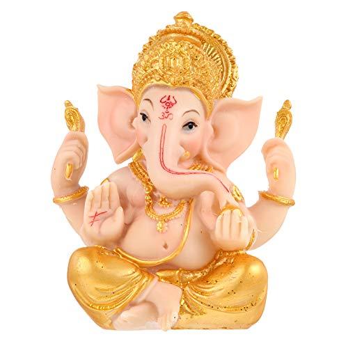 Angoily Estatuas de Ganesha Elefante Ganpati Dios Hindú Señor de La Prosperidad Fortuna Fengshui Decoración del...