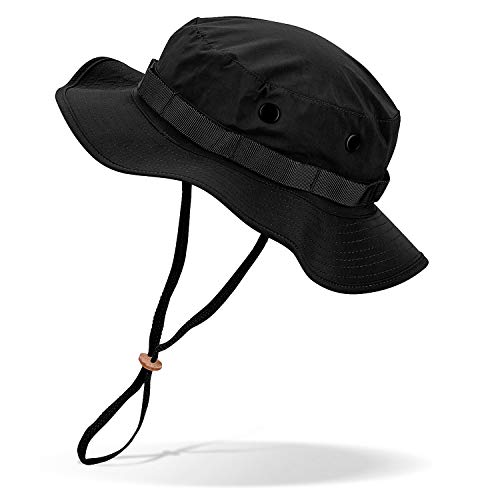 Black Snake Wasserdichter Boonie Hat Outdoor Hut L Schwarz