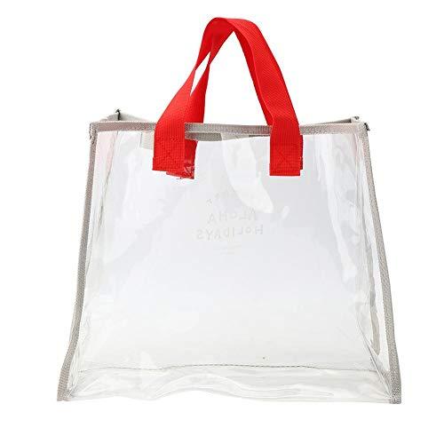 VGEBY Poignée Sac de Natation Sac de Plage Sac de Plage étanche Sac à Main en PVC Transparent Paquet de Stockage de vêtements Portables