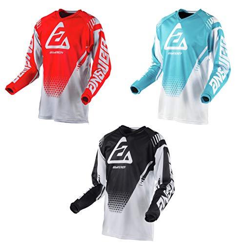 MTB Jersey MX Motocross Racing Shirt Dirt Bike Jersey Casual Riding Shirt Cycling Jersey Quick Dry (Black,L)