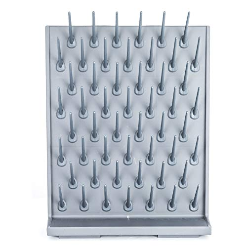 VEVOR Drying Rack Laboratory Glassware Drying Rack Wall Mount and Desk Stand 52 Detachable PEGs Lab Drying Draining Rack