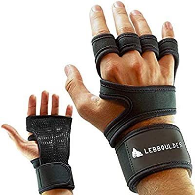Workout Gloves , Weight lifting gloves with Wrist Support for Fitness, WOD, Gym Cross Training & Powerlifting - Silicone Padding to avoid Calluses - Suits Men & Women, Strong Grip