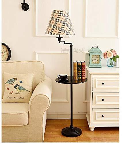 XUSHEN-HU Stehlampe Wohnzimmer Schlafzimmer Einfache Lagerung Vertikaler Couchtisch Tablett Fernbedienung Dekorative Lampe Modern (Lampenschirm-Farbe: 14)