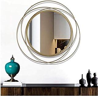 Camera da Letto Accessori da Bagno Specchi a Parete Specchi da Bagno in Metallo Specchi da toeletta a Parete Esagono in Ferro Specchiera da Parete per Soggiorno