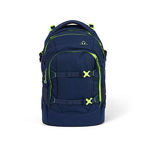 satch Pack Toxic Yellow, ergonomischer Schulrucksack, 30 Liter, Organisationstalent, Blau