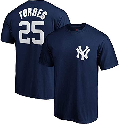 Outerstuff Trikot von Gleyber Torres, mit der Nummer 25, von den New York Yankees, dunkelblau, für Kinder, Jungen, navy, Medium 10/12 US
