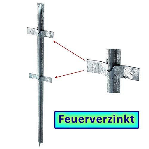 BAUER - FVZ T-Zaunpfosten 1500x40x40x5mm