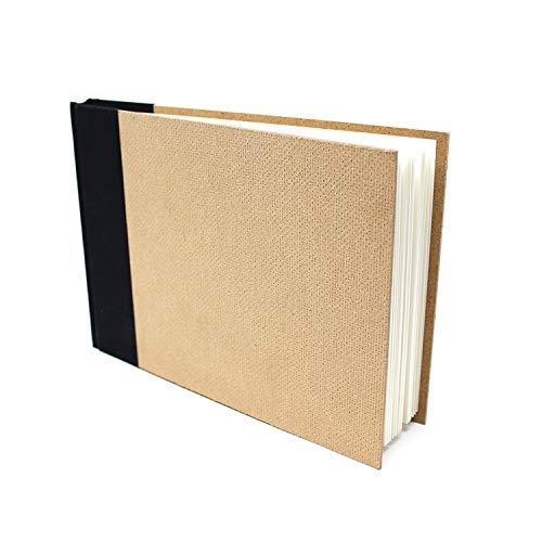 Artway Enviro - Bloc con Encuadernado de Tipo Libro - Papel Cartridge 100% Reciclado - Tapas de aglomerado - 170 gsm - 46 Hojas - 1 x Apaisado A5