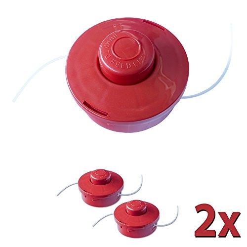 Nemaxx 2X FS2 Cabezal de Doble Hilo semiautomático - Cabezal de Corte de siega -Accesorios de Corte - Hilo de Nylon - Carrete para desbrozadora Gasolina - Rojo