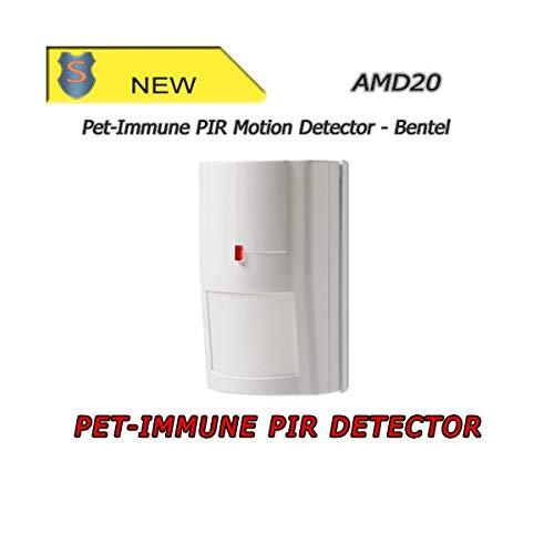 20kg Motion Detector Sensor PET Immunity Max 44lb with Wireless Guarding Window Door Sensor Indoor JC 433MHz Wireless Digital PIR Detector