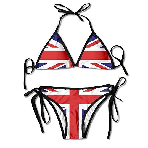 Gxdchfj Women's Union Jack British Flag Beachwear Swimsuit Adjustable Sexy Bikinis Set