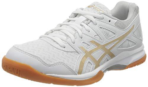 ASICS Damen Gel-Task 2 Indoor Court Shoe, White/Champagne, 40.5 EU