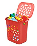 Milton Hamper Laundry/Toy Organizer Basket, 35 litres, Red