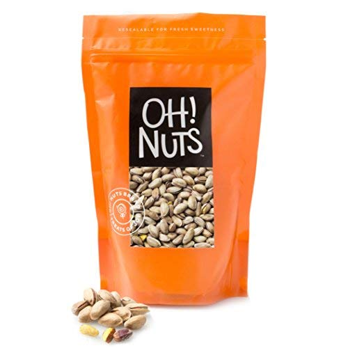 Oh! Nuts 2 LB Specialty Pistachios Finely Salted | Imported Turkish Antep Pistachios Roasted and Lightly Salted (Package May Vary)