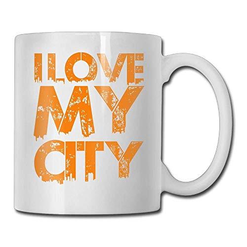 N\A I Love My City Tazza da caffè Donna novità Regali Tazza da tè Un Regalo Perfetto per la Tua Famiglia e i Tuoi Amici