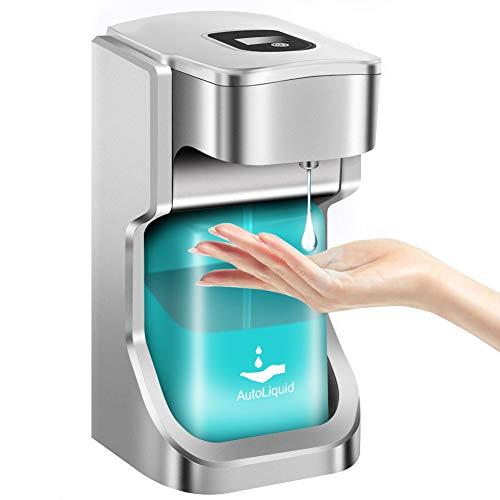 CawBing Dispensador Automatico Dispensador 500 ml Dispensador Automático de Gel Dispensador de Gel hidroalcohólico Dispensador de Gel hidroalcohólico para baño Cocina Hogar