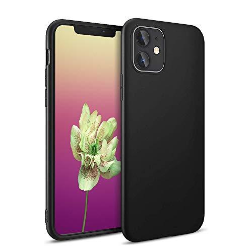 Agedate Funda para iPhone 11 resistente a los arañazos, protección completa, cojín de aire, antigolpes, funda para iPhone 11 (6,1 pulgadas), color negro
