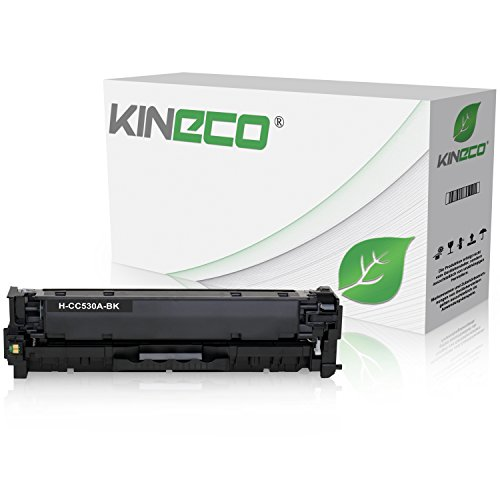 Kineco Toner kompatibel zu HP CC530A Color Laserjet CP 2000 2020 Series 2025 X 2024 2026 2027 DN N cm 2300 Series 2720 2320 FXI CB CBB CI EB EBB Ei N NF WB WBB WI MFP 2323-304A - Schwarz 3.500 Seiten