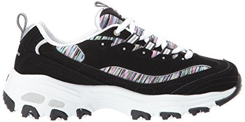 Skechers Mujer D Lites Interlude Leather Synthetic Black Multi Entrenadores 37 EU