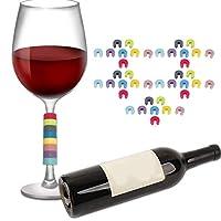 ワイングラスタグ、無毒のワインカップマーカー、パーティー用バー