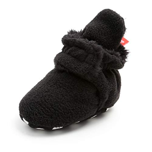 Kfnire Unisex Booties Kleinkind Baby Anti-Rutsch Sock Schuhe Stiefel (6-12 Monate, Schwarzer #01)