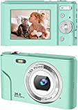 Rosdeca デジタルカメラ デジカメ 子供用カメラ 3600万画素 HD1080P録画 16倍デジタルズーム 2.44インチIPS画面 予備バッテリー 緑