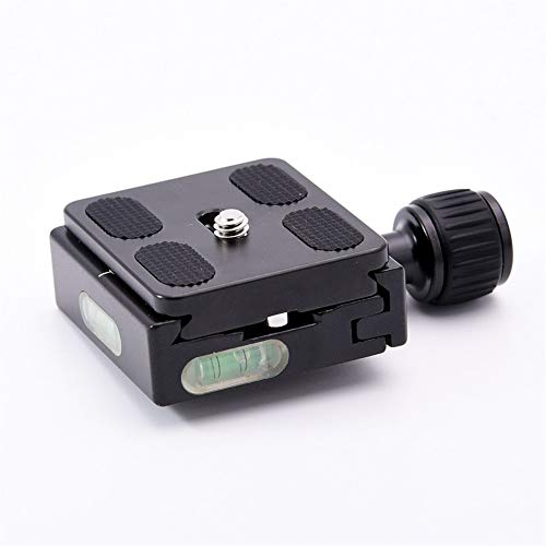 XUSUYUNCHUANG Square Clamp Adapter Plate With Gradienter For Quick Release Plate For Tripod Ball Head Arca Swiss RRS Wimberley