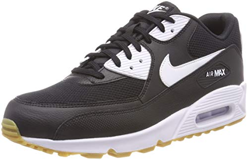 Nike Wmns Air MAX 90, Zapatillas Mujer, Negro (Black/White/Gum Light Brown/WH 055), 38 EU