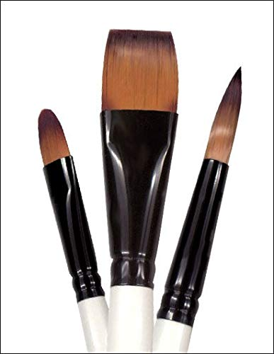 Robert Simmons Simply Simmons Watercolor & Acrylic Short-Handle Brushes 1/2 in. oval wash pony/ synthetic mix
