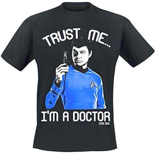 Star Trek Trust Me, I´m A Doctor Männer T-Shirt schwarz XL 100% Baumwolle Fan-Merch, Film, TV-Serien