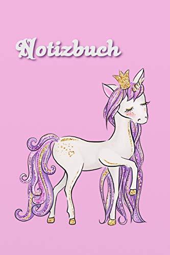 Notizbuch: Mädchen Notizbuch Einhorn - Pferd - Unicorn - Bullet Diary Journal - Einschreibbuch