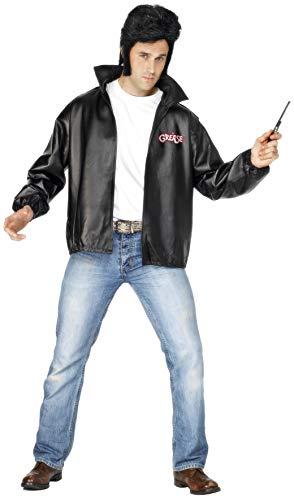 Smiffys Licenciado oficialmente Veste Grease T-Birds, Noir, avec logo brodé