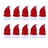 VEVIK - 10 Unidades de portacubiertos de Navidad, decoración navideña, de Terciopelo, 10...