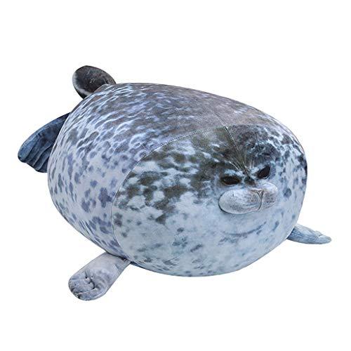 MERIGLARE 20/30 / 40CM Soft Blob Seal Felpa Muñeca Almohada Dibujo de Animal Relleno - Gris, 40cm