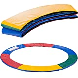 Arebos Paraspigoli per trampolino Protezione a molla  ricambi trampolino elastico   183, 244, 305, 366, 396, 427, 457 o 487 cm   PVC e PE   resistente allo strappo   Multicolore 244 cm