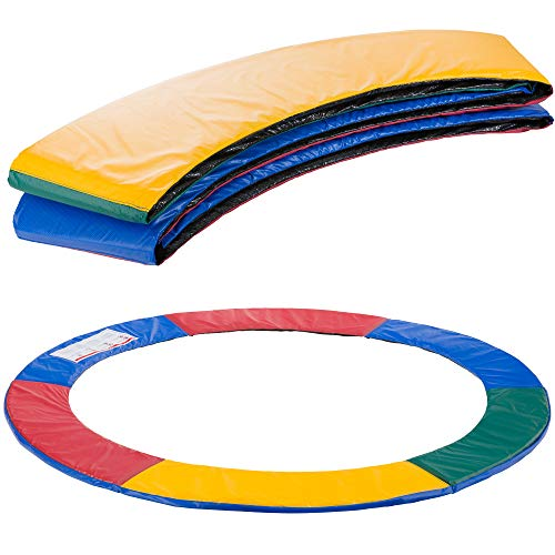 Arebos Paraspigoli per trampolino Protezione a molla |ricambi trampolino elastico | 183, 244, 305, 366, 396, 427, 457 o 487 cm | PVC e PE | resistente allo strappo | Multicolore 244 cm