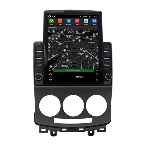 Sat Nav 9.7 Inch Truck Satnav, actualiza a través de WiFi, tráfico en Vivo y cámara de Velocidad, Adecuado para Viejos Mazda5