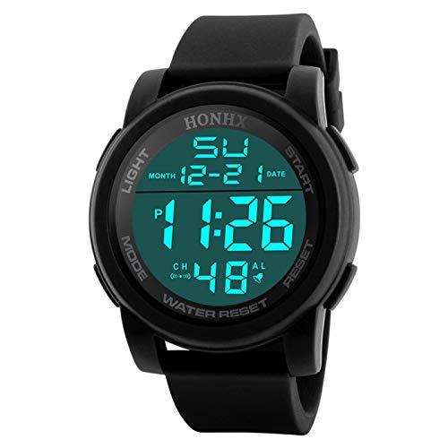 yuge Reloj Deportivo Hombre, LED, Impermeable, Digital, de Cuarzo, Militar, de Lujo, Reloj con Fecha, Sensor Luminoso, Reloj Digital D