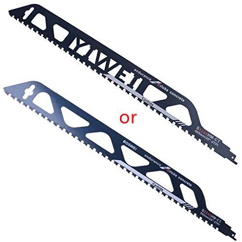 KANGneei Reciprocating Saw Blade,505mm Demolition Masonry Reciprocating Saw Blade for Cutting Bricks Concrete Cemented Carbide Teeth Blades