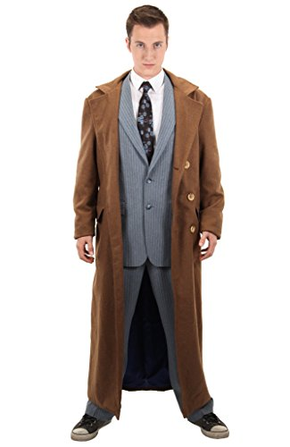 elope Doctor Who 10th Doctor Costume Coat Small/Medium Brown