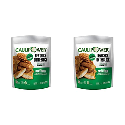 Caulipower Gluten-Free Chicken Tenders | Frozen Baked White Meat Chicken with Rice Flour and Cauliflower Coating, Crispy and All Natural - 2 Pack (14 Oz Each) | By Gourmet Kitchn