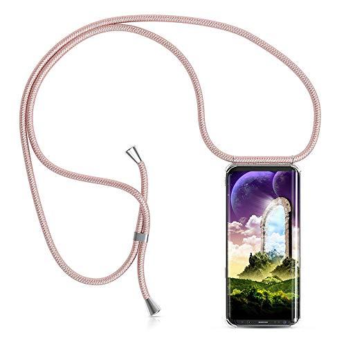 Handykette Handyhülle mit Band für Samsung Galaxy S9 Cover - Handy-Kette Handy Hülle mit Kordel Umhängen -Handy Halsband Lanyard Case/Handy Band Halsband Necklace
