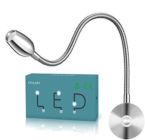 LED-Leselampe,Dimmbare-Nachttischlampe,an der Wand montiertes Arbeitslicht mit Memory-Funktion Touch-Schalter Nachtbeleuchtung Warmweiß,200LM/3000K/3W/Wechselstrom,Abstrahlwinkel:30°,Länge:38cm