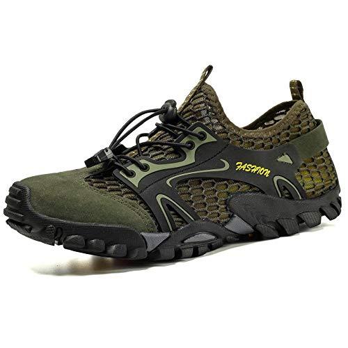 Fnho Casual Senderismo Calzado,Calzado de Running para Hombre,Zapatos de Escalada en Roca al Aire Libre, Zapatos de Senderismo de Fondo-Card_41