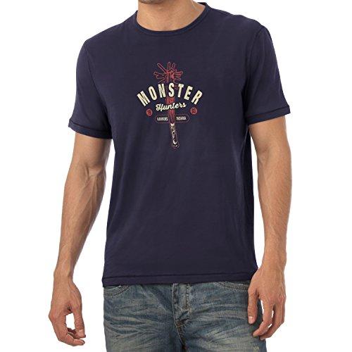 Texlab Herren Monster Hunter Hawkins Indiana-T-Shirt, Navy, L